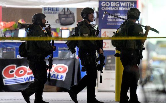 Police at Costco store