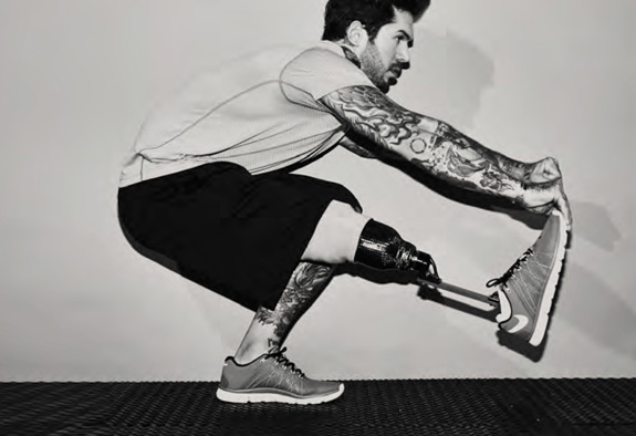 Alex Minsky lost his right leg after his patrol vehicle hit an improvised explosive device while he was serving in Afghanistan. (Nordstrom)