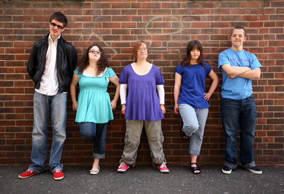 Lewis, Hilly, Lucy, Megan and Sam all have intellectual disabilities and live together in Brighton, England. They are featured in a new series called