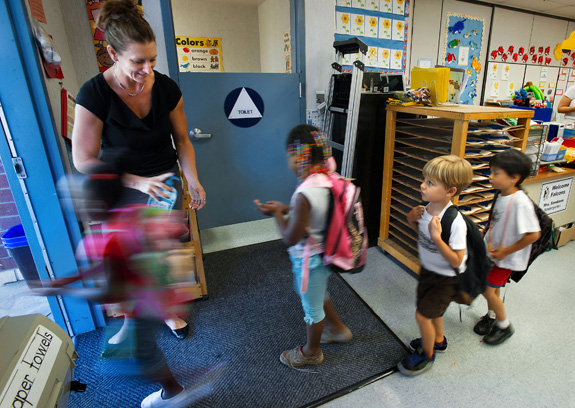 A new analysis finds that whether or not students with autism attend mainstream classes depends -- at least in part -- on what state they live in. (Randall Benton/Sacramento Bee/MCT)