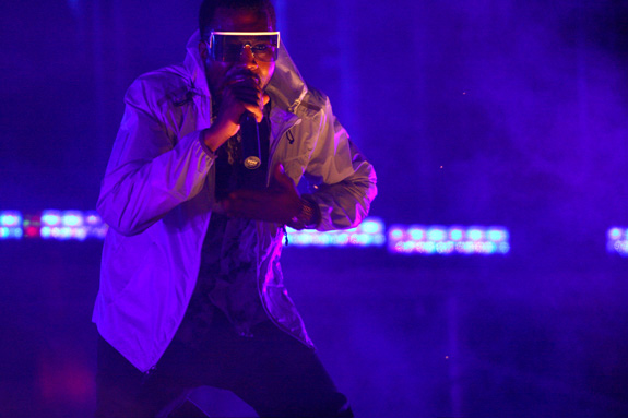 Kanye West is defending himself after singling out two people with disabilities at a recent concert when they did not stand. (E. Jason Wambsgans/Chicago Tribune/MCT)